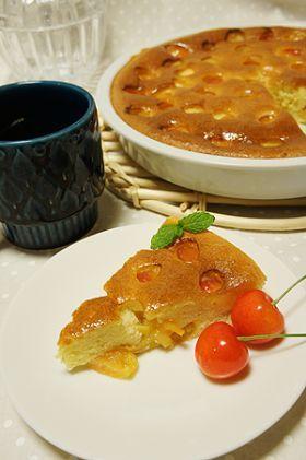 「さくらんぼのクラフティー」tamama   お菓子・パンのレシピや作り方【corecle*コレクル】