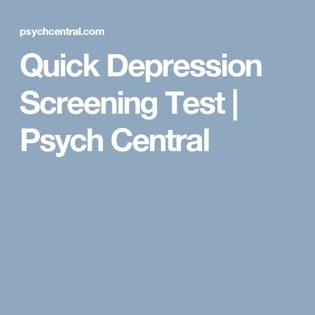 Quick Depression Screening Test | Psych Central