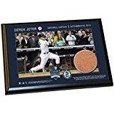 #9: Derek Jeter 'Final Yankee Moment' 5 Inch X 7 Inch MLB (Major League Baseball) Authentic Game Used Dirt Plaque