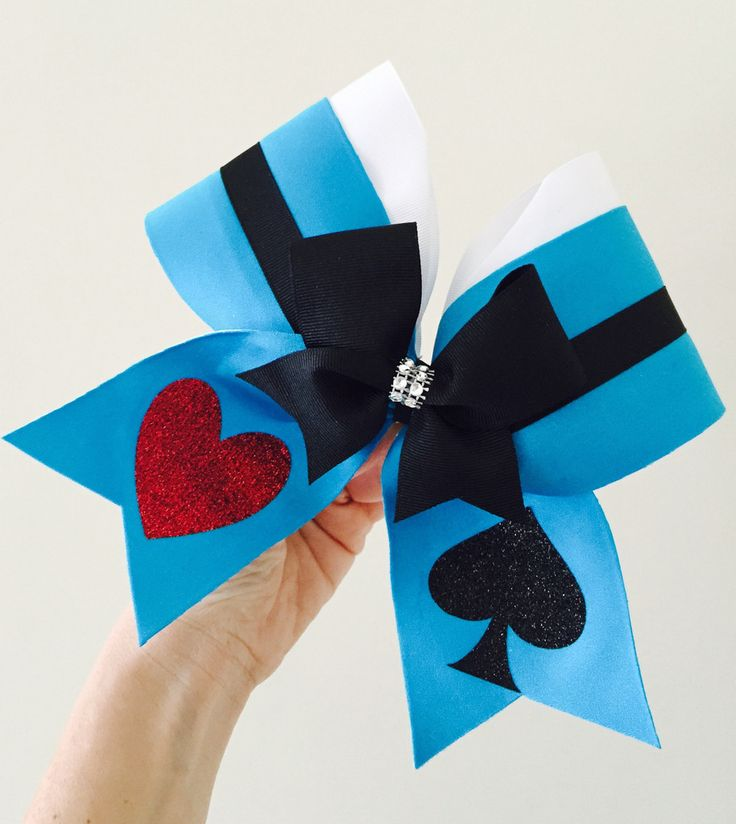 Alice in Wonderland cheer bow