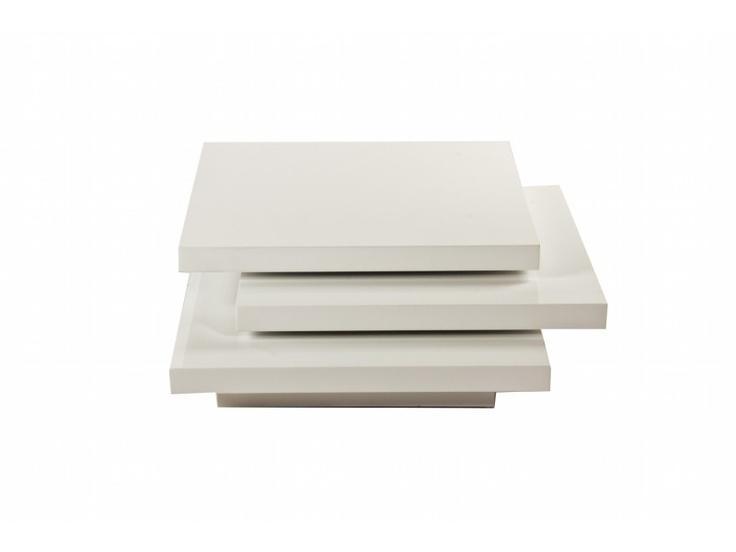 design salontafel square hoogglans wit