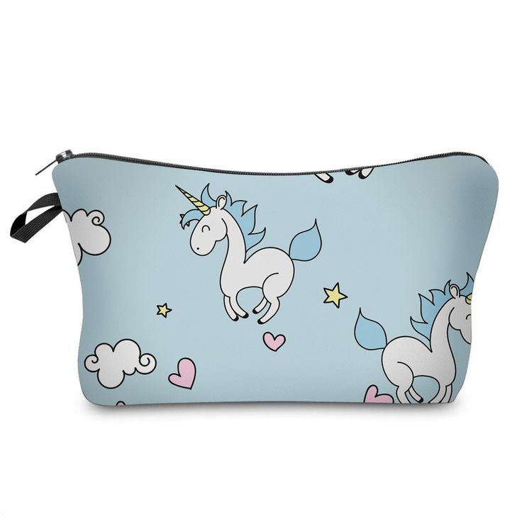 Prancing Unicorns Cosmetic Make-Up Case - Only $7.99
