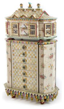 mckenzie childs furniture images | Chicken Palace Jewelry Armoire | MacKenzie-Childs eclectic furniture