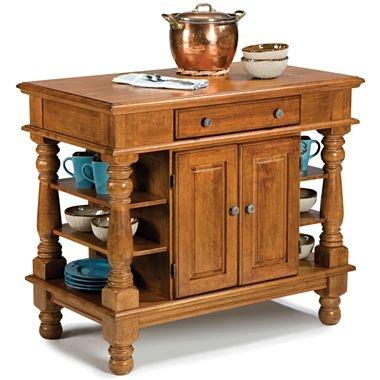 Cottage Oak Americana Kitchen Island - mud room $650 jcpenney
