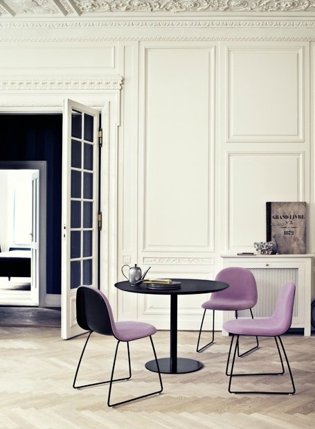 19th century neo-classical interior as backdrop to contemporary furniture