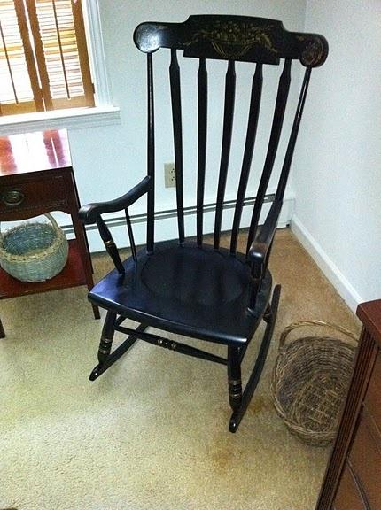 Black Boston Rocking Chair - $45 (Lithonia)