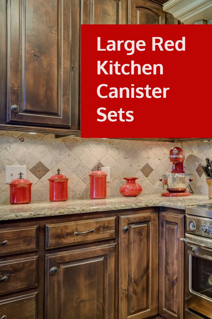 Red And White Kitchen Canisters For Storage Red Kitchen Accessories Kitchen Canisters Red Kitchen Canisters Kitchen Canister Sets