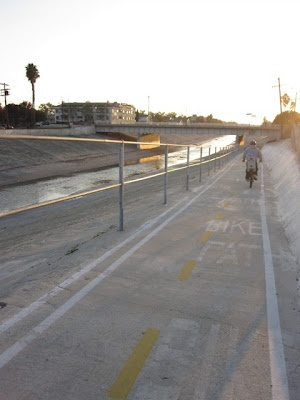 Riding the Ballona Creek Bike Path with kids