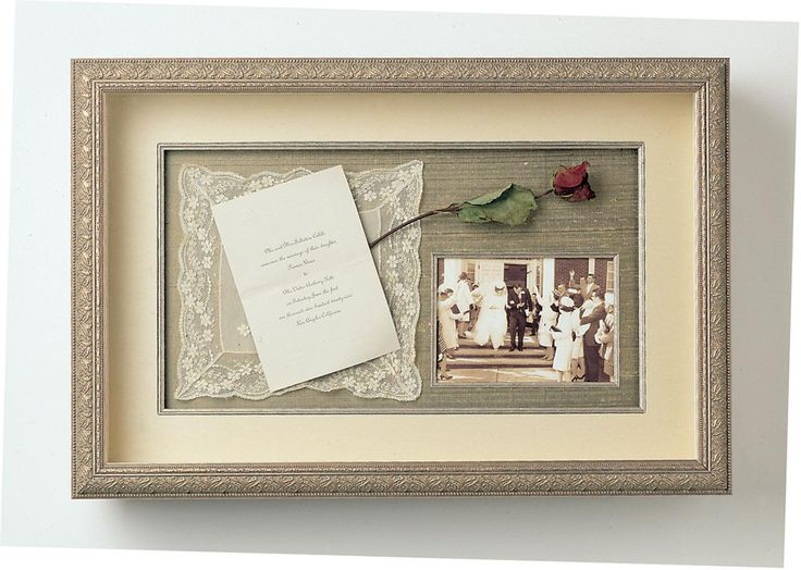 Wedding Shadowbox. Very beautifully and simply done.