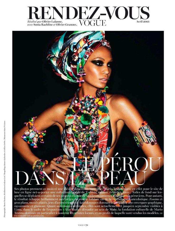 "Vogue Paris апрель 2013 ""Rendez-Vous"" ♥ Модель: Джоан Смолс ♥ Ph : Марио Тестино St: Carlyne De Cerf Dudzeele"
