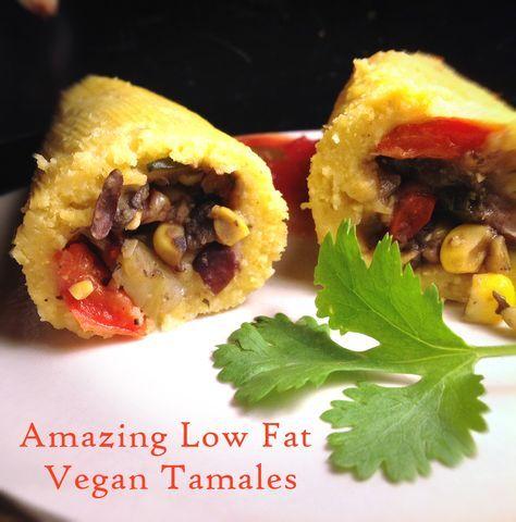 Healthy Dinner: Low Fat Vegan Tamales #Recipe #Vegan