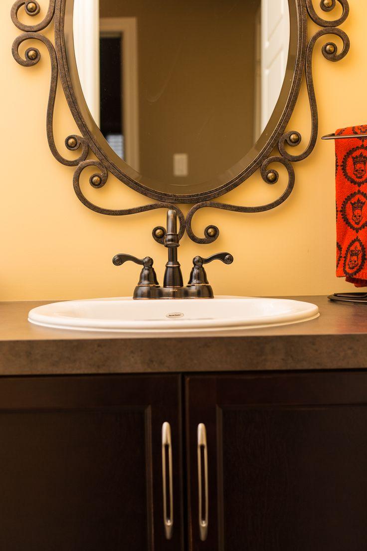 Calgary bathworks calgary bathroom renovations bathroom gallery - Loving The Dark Accessories And Cabinets Against The Light Walls