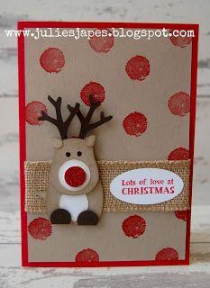 Julie Kettlewell - Stampin Up UK Independent Demonstrator - Order products 24/7: Another Reindeer Card