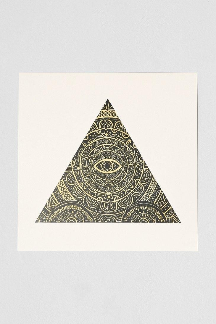 Caitlin Keegan Triangle Eye Art Print #urbanoutfitters
