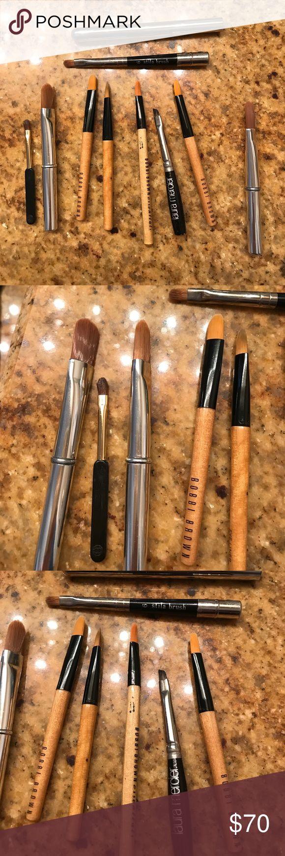 """Bundle small brushes. For brow, lips, concealer. Deferents brands. Size 31/5"""" long, perfect for your make up bag. Bobbi Brown, Laura Mercier, Trish McEvoy, Chanel, Stila. Bobbi Brown Makeup Brushes & Tools"""