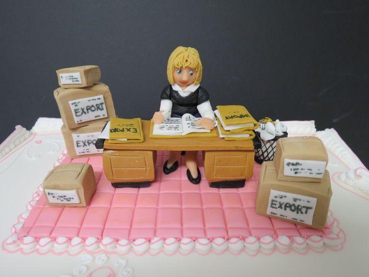 Office Worker Sugarpaste Model