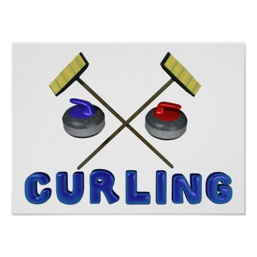 Curling Posters   Poster and Curling