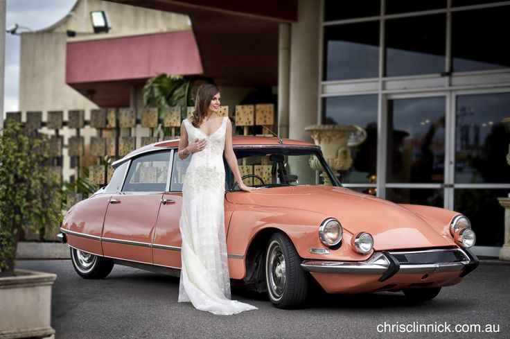 """1967 Citroen DS21 """"Goddess"""" Something a little bit retro for the couple that dare to be different on their wedding day. Perfect for those couples with a Rustic wedding theme. #retro #weddingcars #classiccars #weddinginspo #rusticwedding #weddinginspiration #bridalgown #model #classiccarhire #bridalgown #bridetobe"""