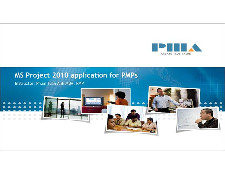 Ms Project 2010 Application For PMP by Anh Pham Tuan via slideshare