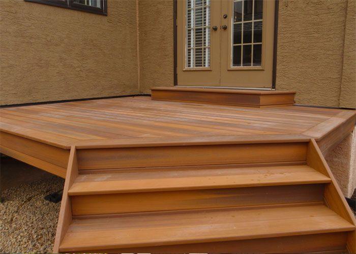 CREATE ESCAPE - Scenic Acres.  Fiberon Horizon composite decking with enclosed steps.