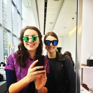 The coolest place for sunnies?! Archives Toronto! Trying out our favs.