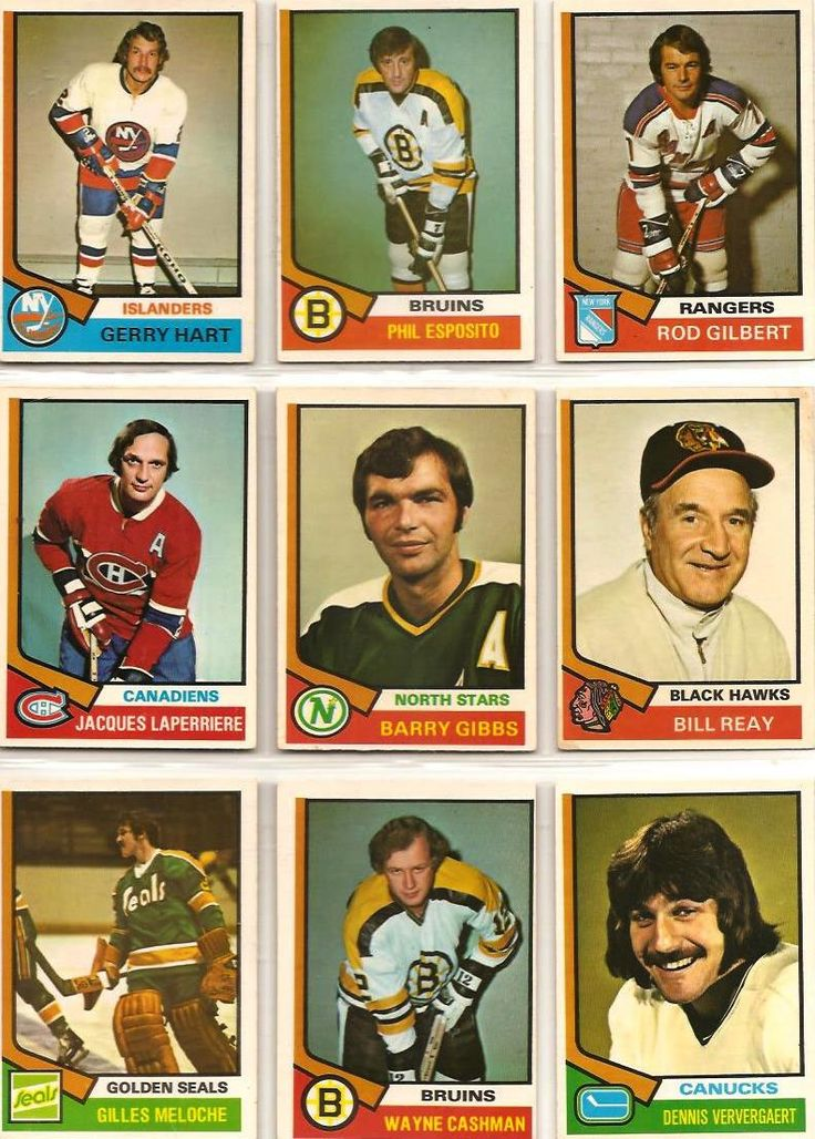 199-207 Gerry Hart, Phil Esposito, Rod Gilbert, Jacques Laperriere, Barry Gibbs…