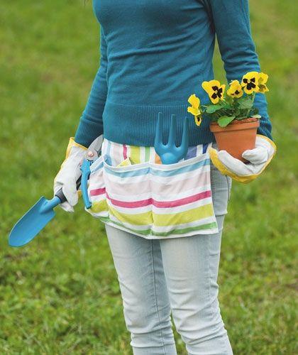 Nähen für den Garten - praktische Gürteltasche selbst nähen und das wichtigste Werkzeug immer dabei haben!