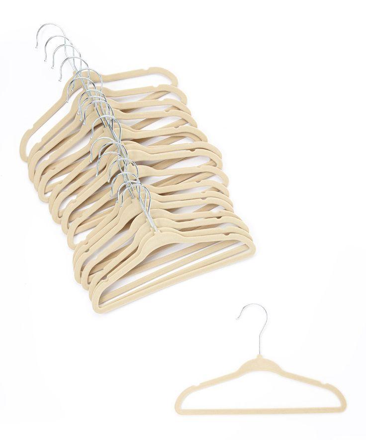 Cream velvet coat hangers