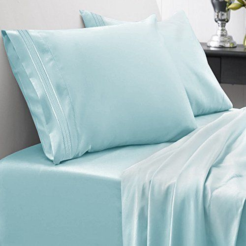 4 Piece 1800 Thread Count Egyptian Quality King Size Bed Sheet Set Xmas Gift #SweetHomeCollection