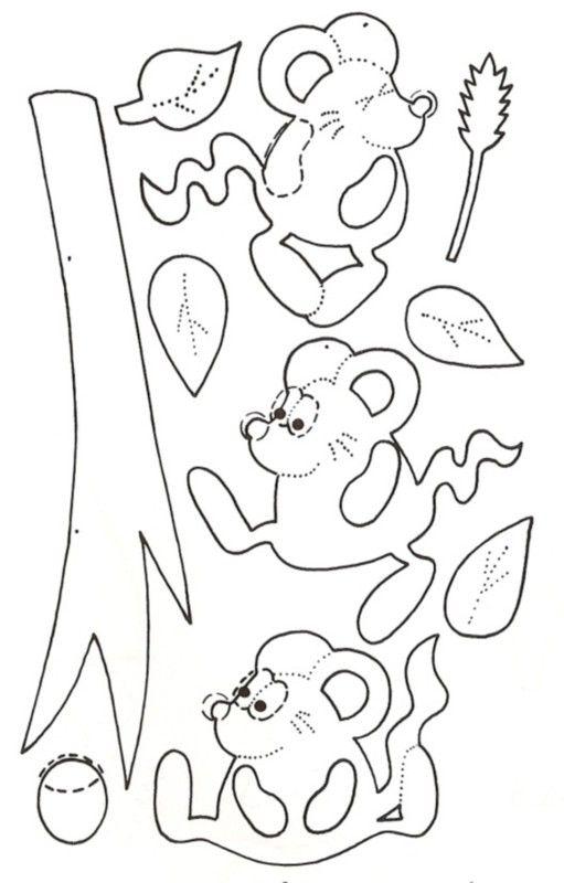 Petites souris d'automne - Gabarit