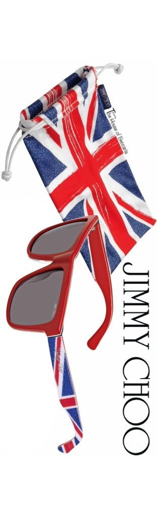 "~Jimmy Choo Union Jack ""ALEX"" Sunglasses. Jimmy Choo is a British high fashion house founded in 1996 specializing in shoes, handbags, accessories and fragrances 