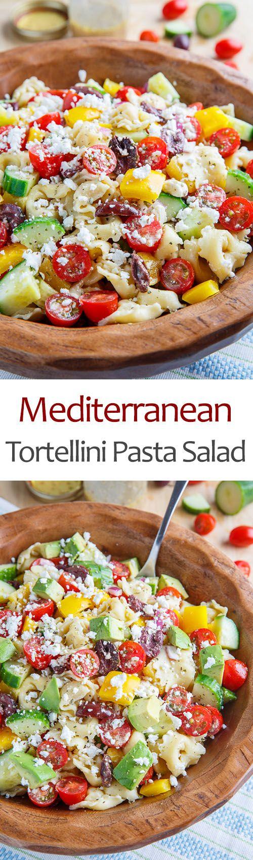 Mediterranean Tortellini Salad. I've had those tortellini in the fridge for over a week, this looks worthy