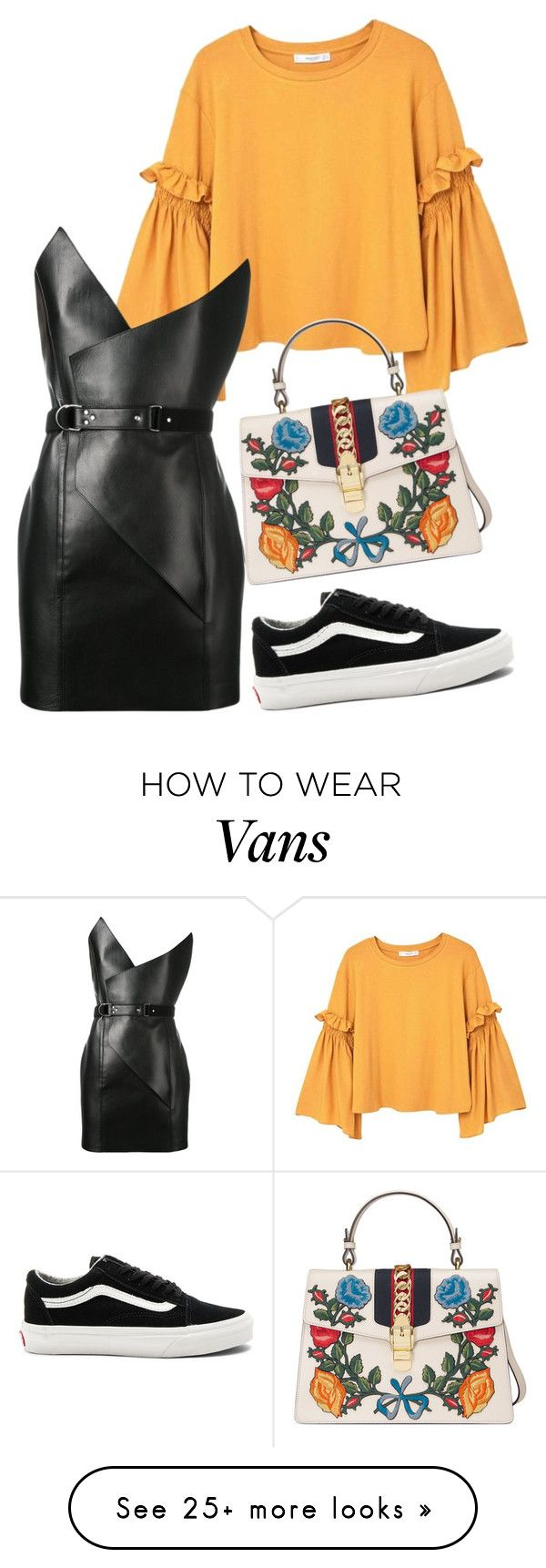 """Untitled #75"" by elenamartinezt on Polyvore featuring MANGO, Yves Saint Laurent, Vans and Gucci"