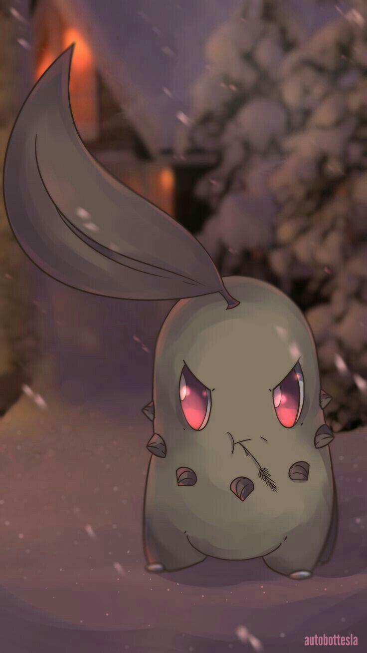 Pokemon. So here's a somewhat Quentin Tarantino style badass Chikorita.