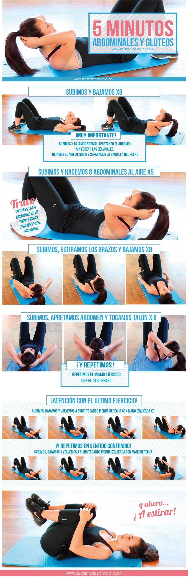 Rutina abdominales y glúteos