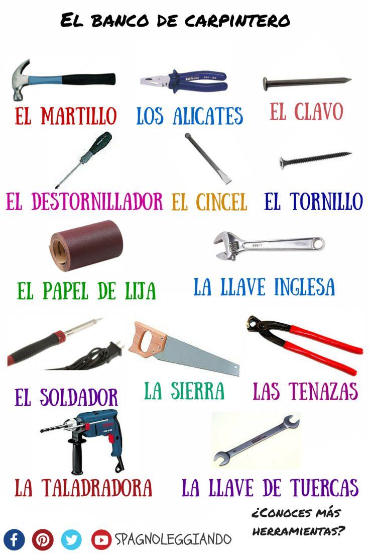 Un poco de #léxico: el #banco de #carpintero Descarga el #pdf ---> https://loveidioms.wordpress.com/vocabolario-e-sinonimi/ #spagnoleggiando