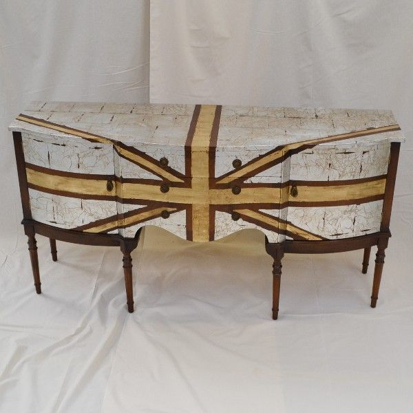Upcycled Gold Leaf Sideboardl, available to buy at remadeinbritain.com