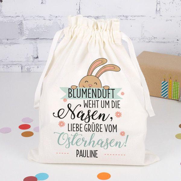 Geschenksack zu Ostern mit Ihrem Wunschnamen