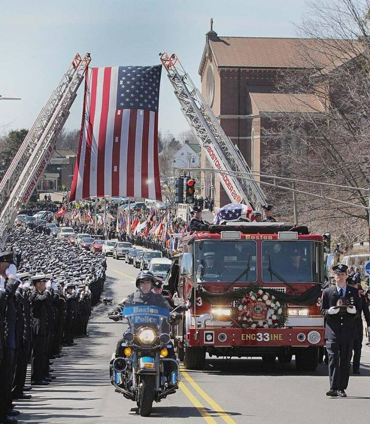 Boston Firefighter Michael Kennedy funeral. RIP brother