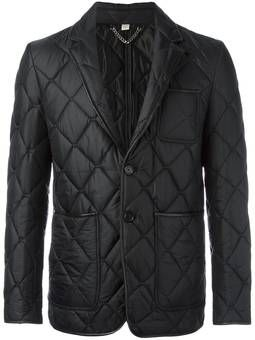 quilted single breasted blazer