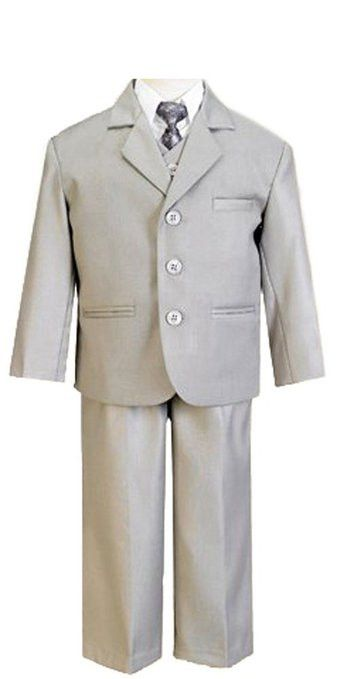 Boys Suit in gray for boys of all ages. This boys gray suit comes with everything you need to complete a dresswear attire. It comes with a jacket, vest, tie, pants, and shirt.5/5(54).