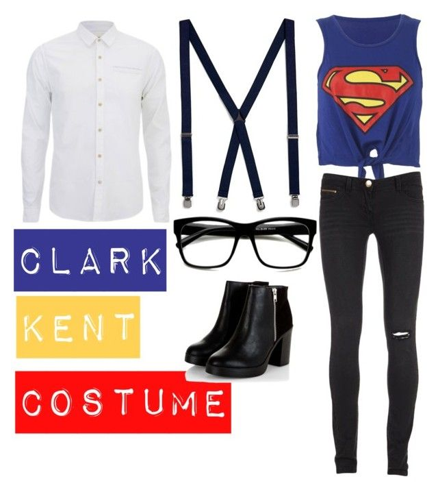 """Clark Kent Costume"" by bandgeek01234x on Polyvore featuring Topman, Retrò and Scotch & Soda"