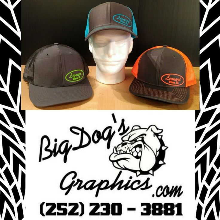 Do you need a great looking cap/hat to advertise your business? Well you have stubbled upon the right place; we are BigDog's Graphics and look forward in helping you look good. Checkout these Richardson 112 hats for our friends of Leonard Truck, Jeep and Buildings of Wilson, NC and let them know you saw this ad. #richardson112 #northcarolina #leonardaccessories #caps #hats #advertising #graphicdesign #leonards #wilsonnc #shoplocalnc #buylocalnc