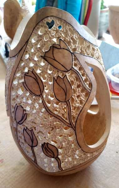 Best 61 Filigree On Gourds Images On Pinterest Other