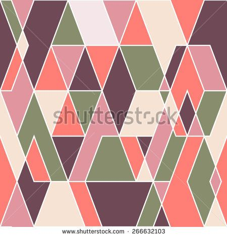 Vintage seamless pattern with colorful triangles. #geometricpattern #vectorpattern #patterndesign #seamlesspattern