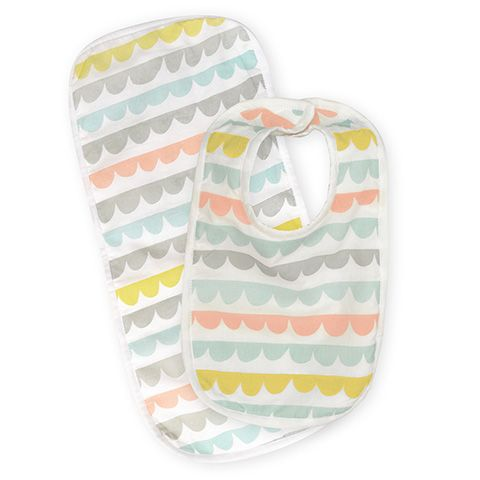 Madras Link Harper Bib & Burp Set