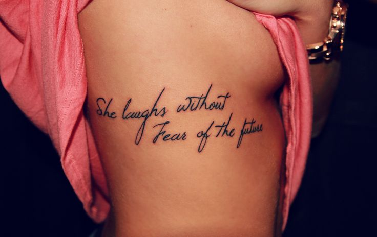 Rib Tattoos for Girls 29