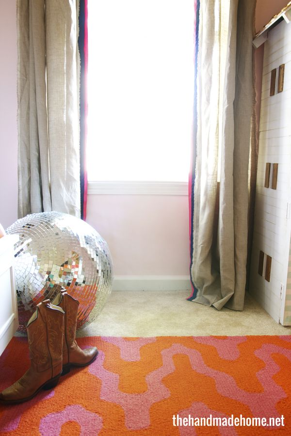 neutral curtains with small stripes on sides, all the way to the floor even though window is smaller, could this work for boys' room, with desk under it?
