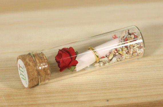 Rose Amp Love Letter Inside Bottle Diy Bottle