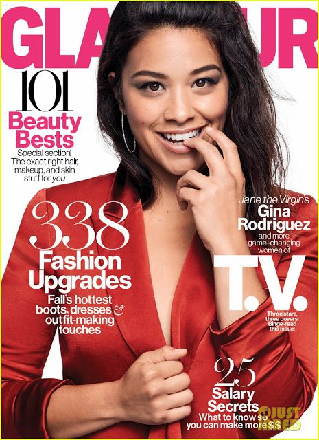 Actress, Singer @ Taraji P. Henson, Emma Roberts & Gina Rodriguez - Glamour US, October 2015 - Subscribe Single Issue or Annual Subscription at Magazine Cafe Store.